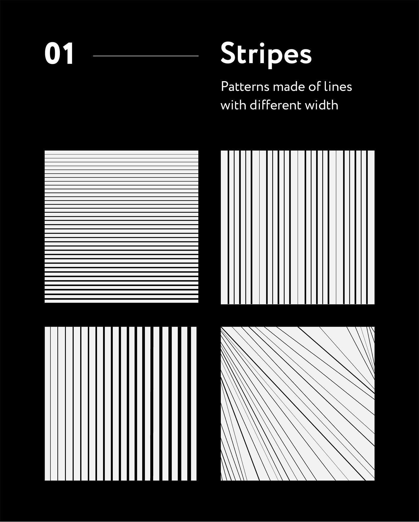 Patterns graphic design  stripes black and white