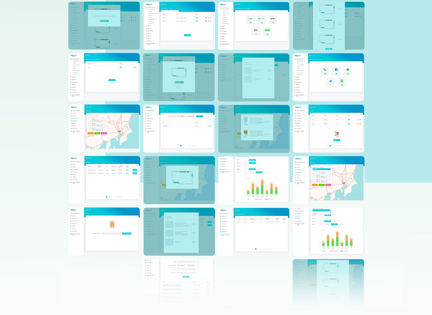 corporate corporation dashboard management software UI user interface ux