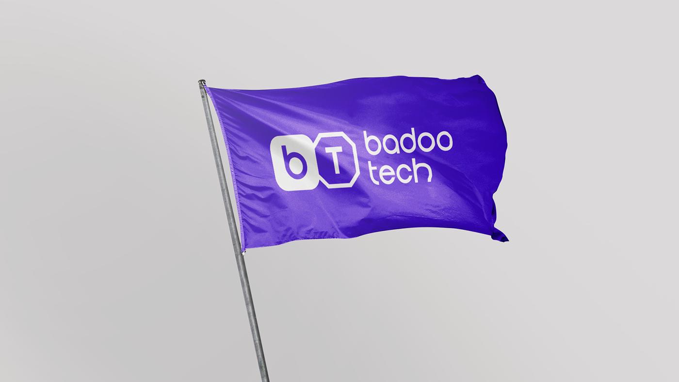 identity branding  ILLUSTRATION  animation  monochrome IT tech badoo