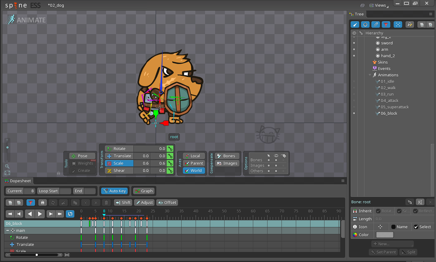 spine animation  2D character animation asset game asset 2D Animation