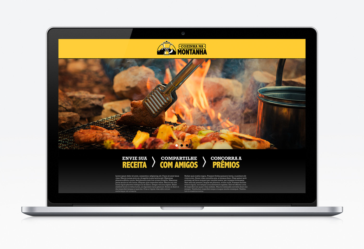 contest cooking landing page mountain recipe style tile Web Website