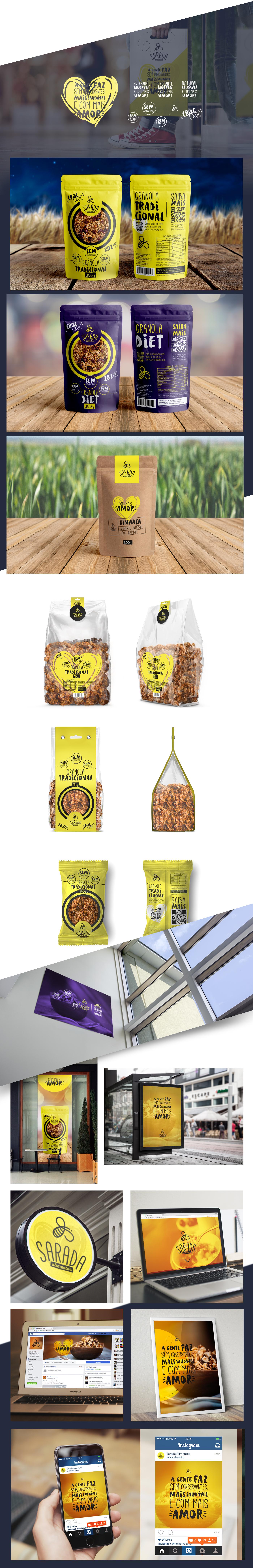 granola embalagem saudável Health care Food  comida