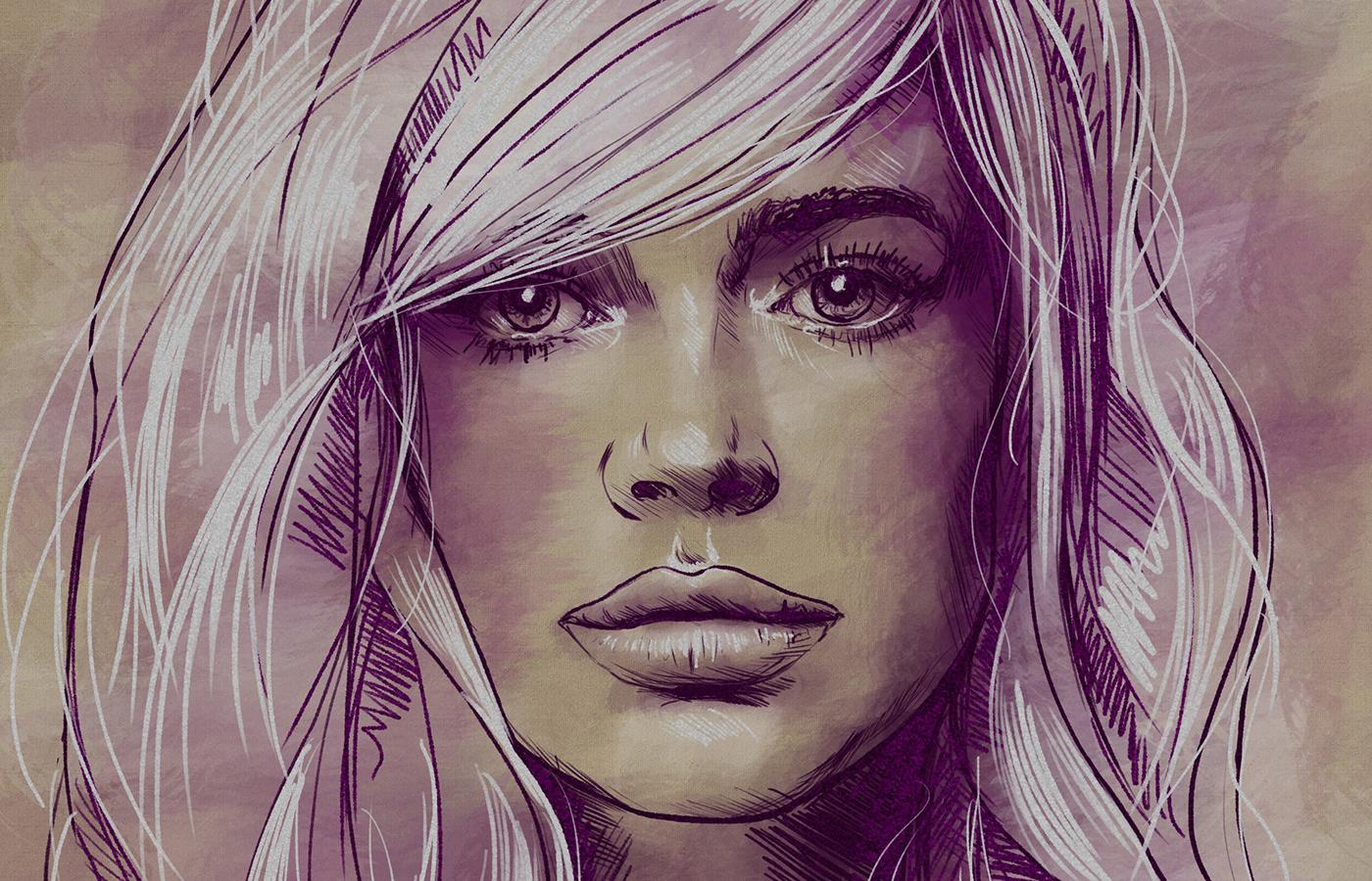 draws digital paints arte contemporanea RITRATTI portraits fine art