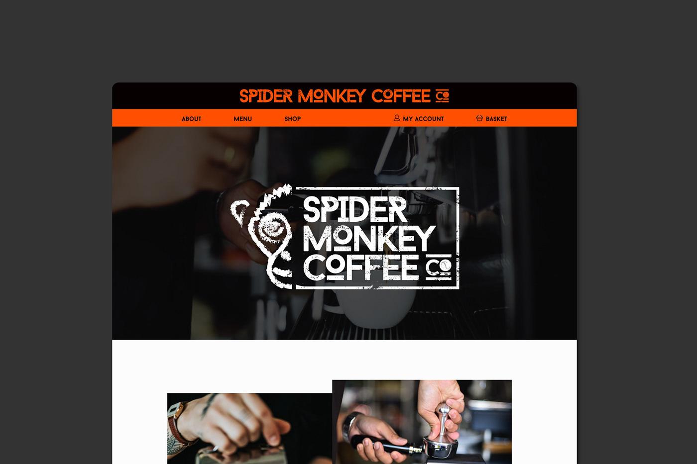 Coffee coffee shop Web Design