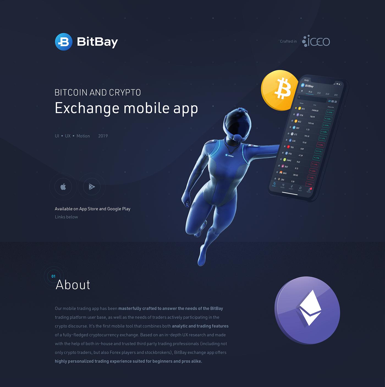 bitcoin mobile ux UI blockchain exchange app Fintech Bank crypto