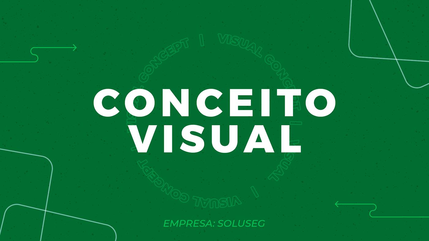 Conceito visual Graphic Designer identidade visual projeto projeto visual publicidade seguradora segurança  do trabalho social midia Web Design