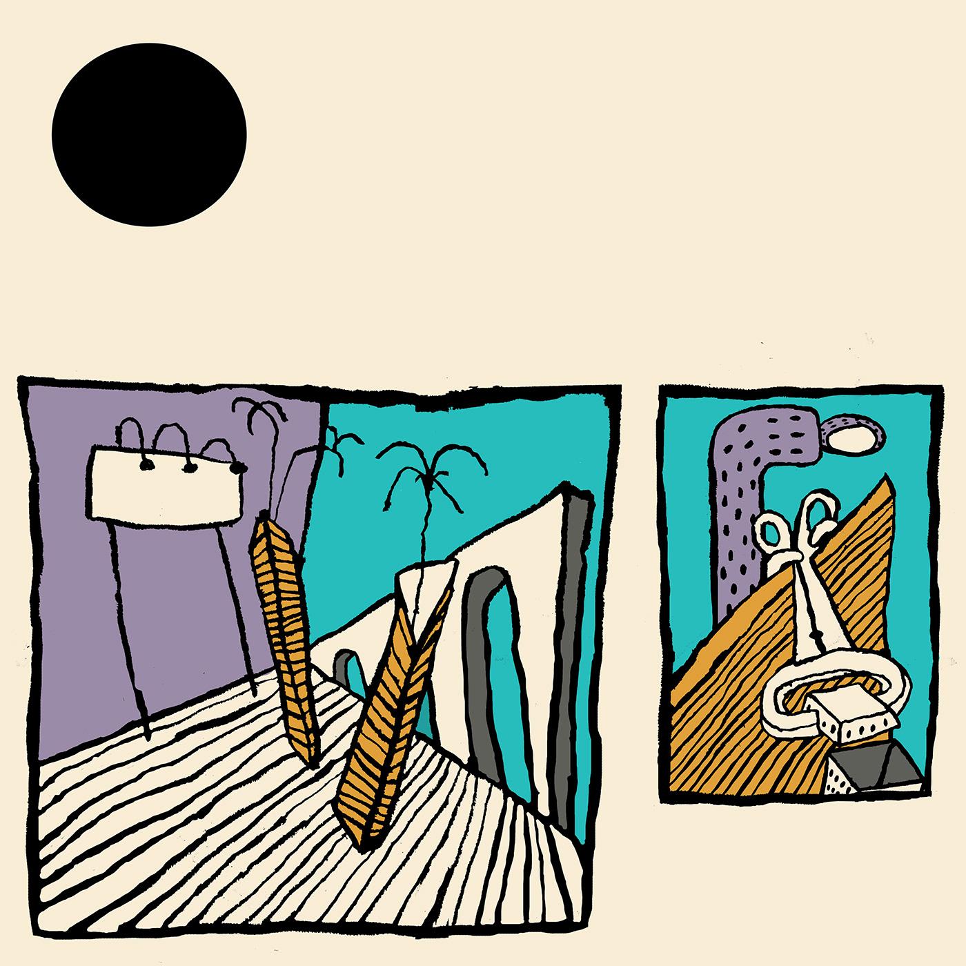 Album cartoon comic cover design ILLUSTRATION  music