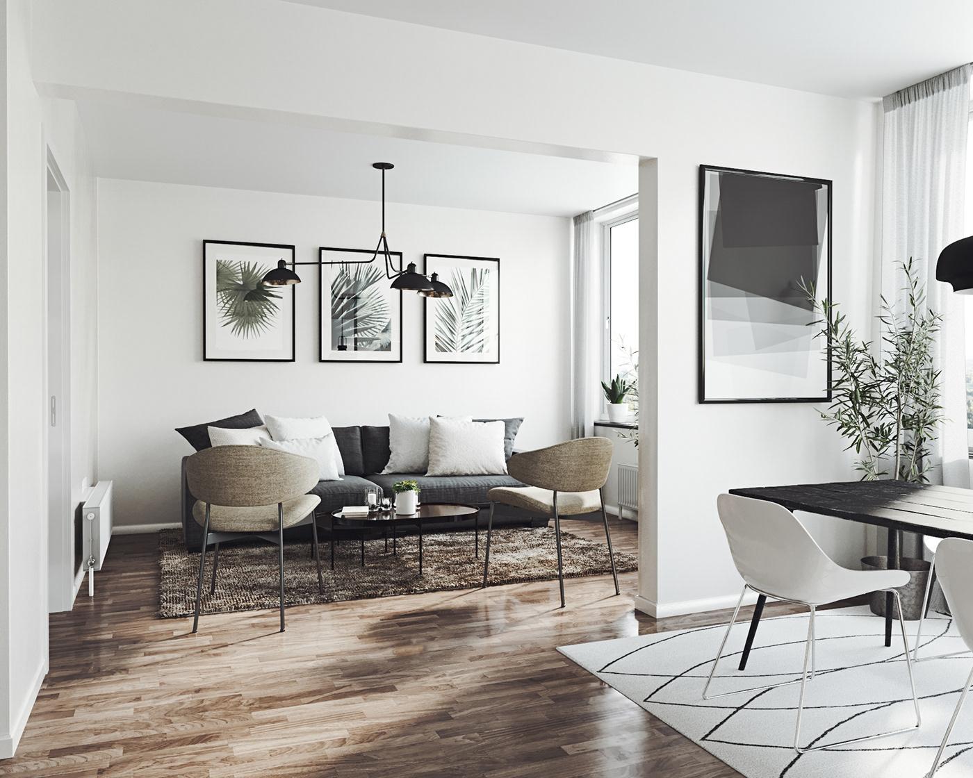 Diseño de Interiores arquitectura ilustracion diseño gráfico arte digital Scandinavian