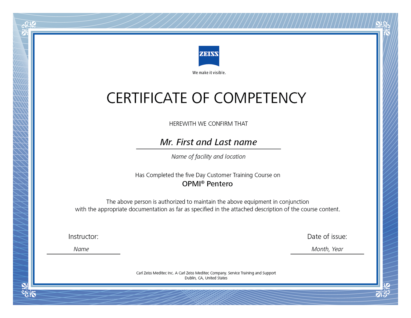 competency certificate template carl zeiss certificate of competency on behance