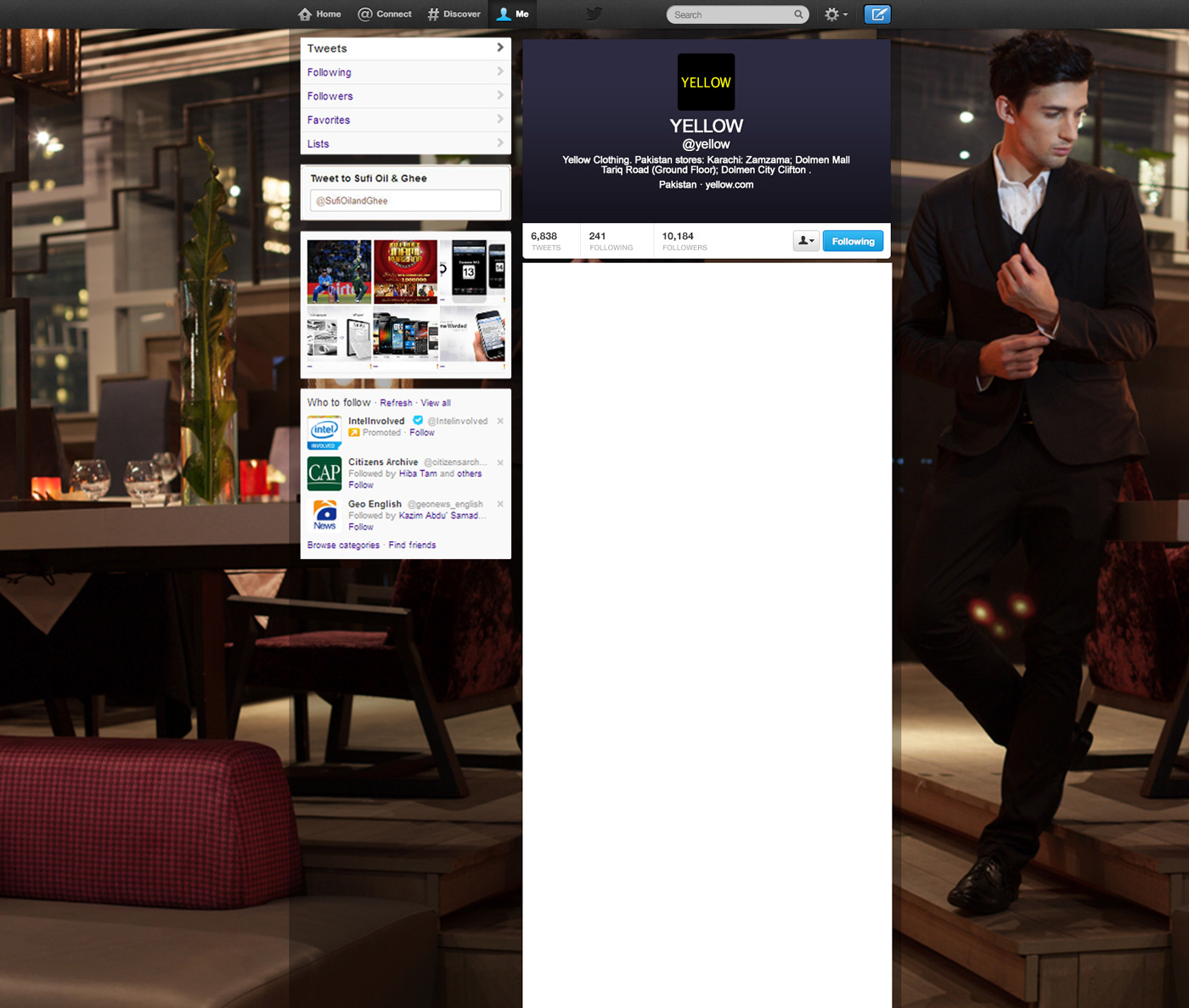 graphic design twitter Fashion  brand social media