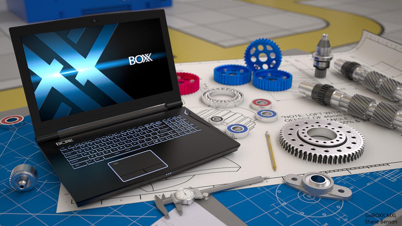 notebook Laptop cnc 3D c4d cinema 4d