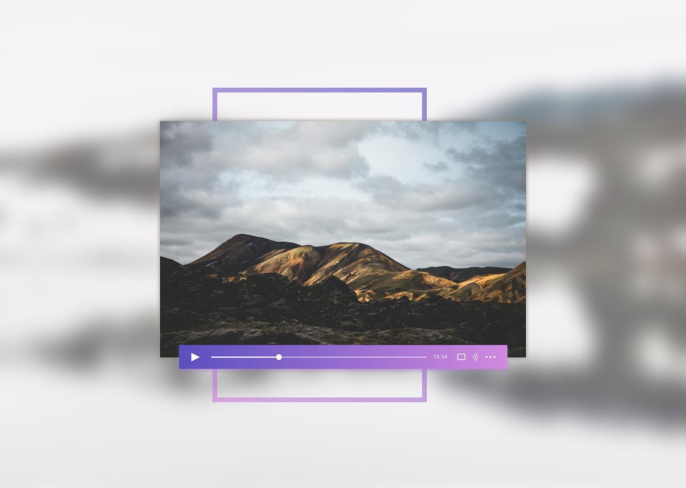 video player video player UI ux Interface design Webdesign user interface interaction