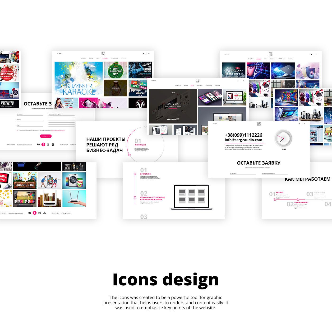 Website ux UI e-commerce Interface minimal mainstream design motion infographic