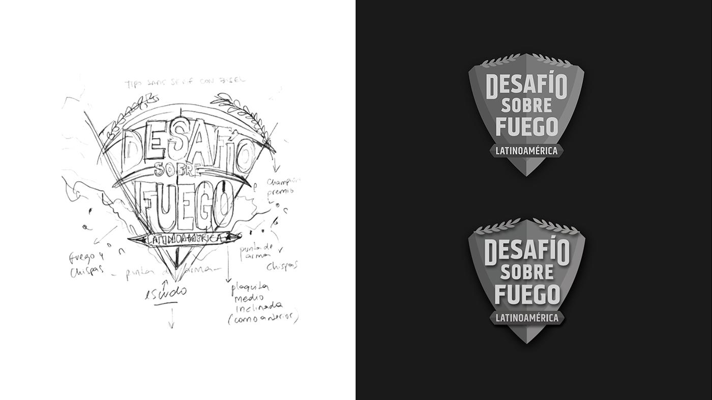 black branding  fire forged history historychannel logo logodesign Packshot shield