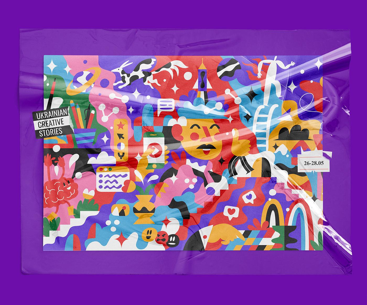 festival identity,identity,illustartion,brand,Creativity