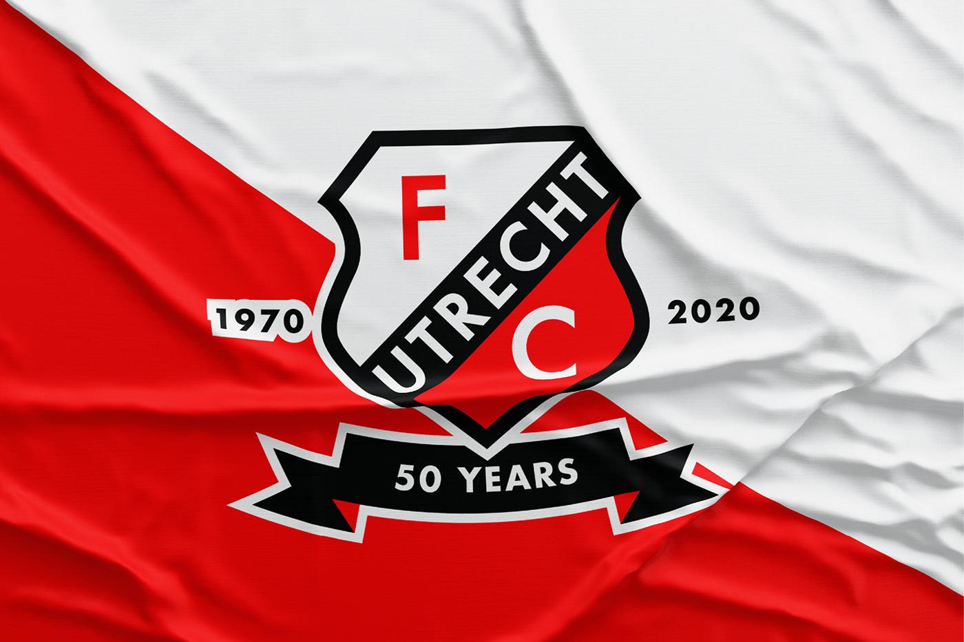 50YEARS concept fcutrecht jersey kit nthnrs soccer utrecht voetbal Rebrand