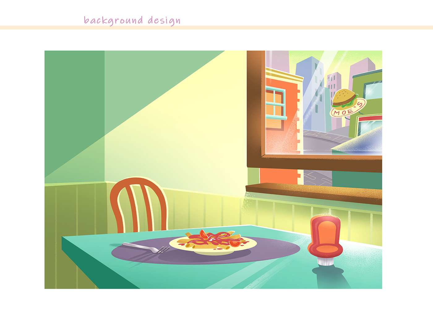 animation  background design Character design  color and light cute digital paint Layout little girl pencil test Visual Development