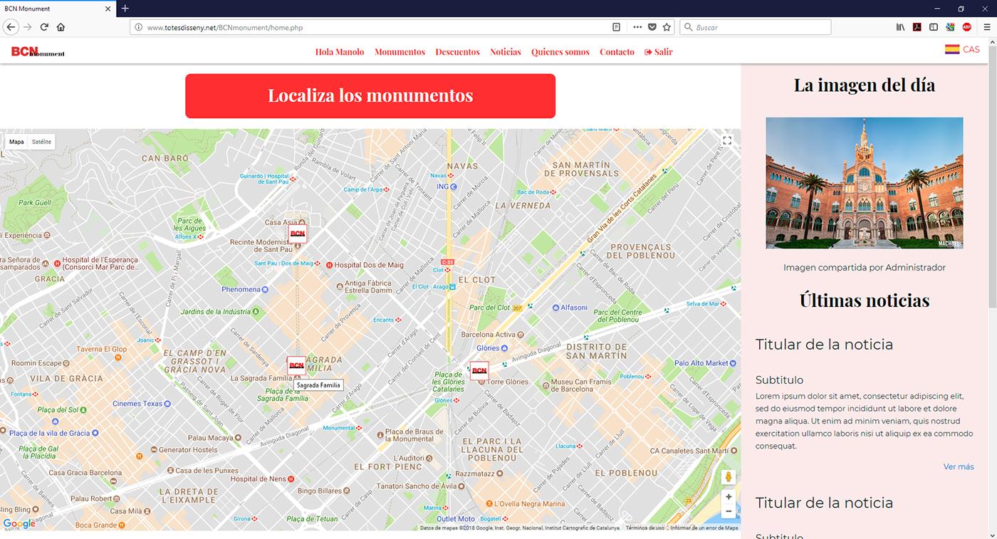 Localizador de monumentos