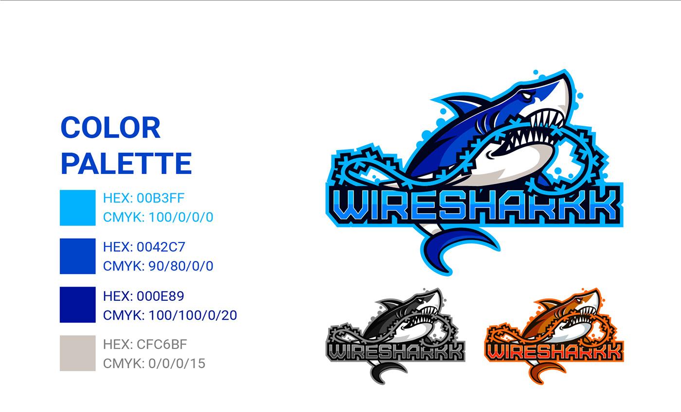 logo of a shark