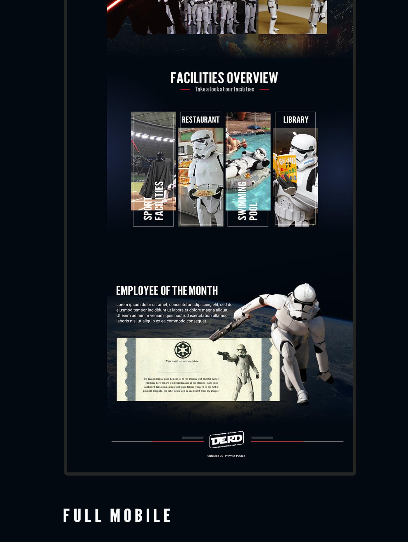 star wars stormtrooper darth vader UI ux designer ui design UX design
