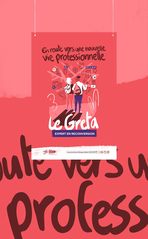 affiche poster identité graphisme voyage route campagne duo ILLUSTRATION