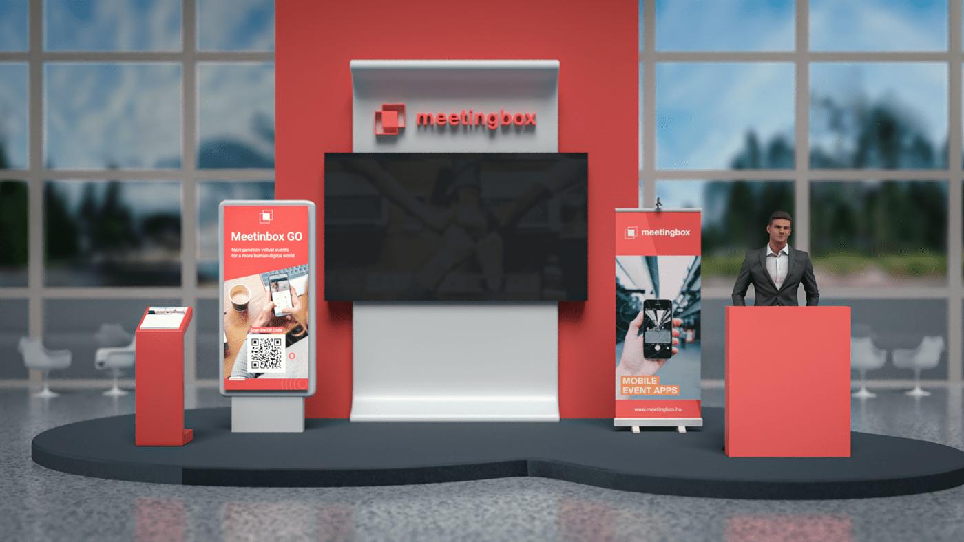 3D,Adobe Dimension,digital,Event,Exhibition ,expo,venue,virtual