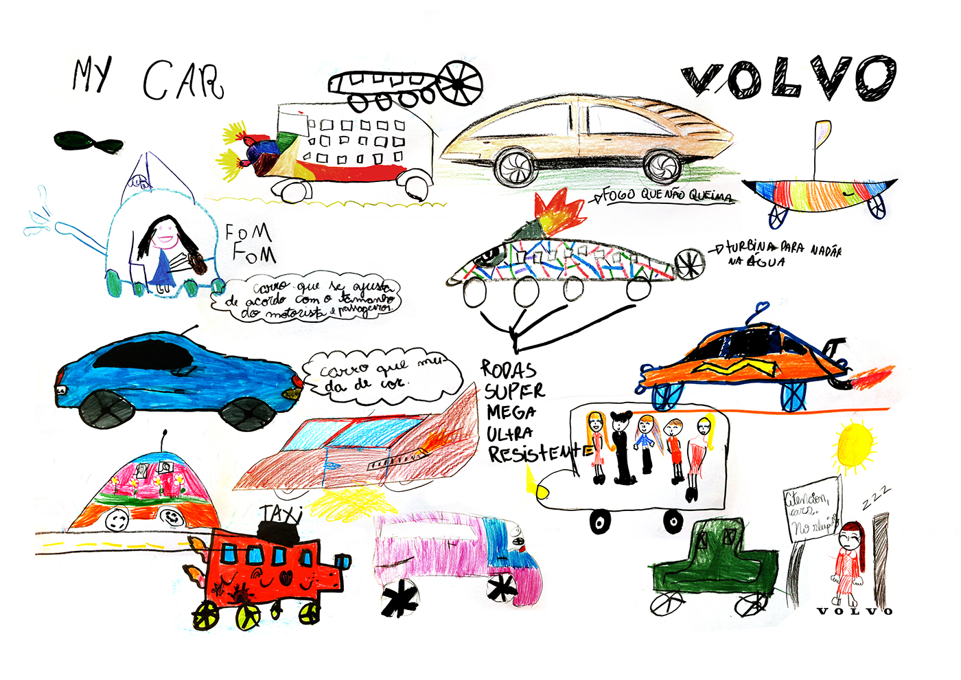 Designing with kids the future car of Volvo on Behance