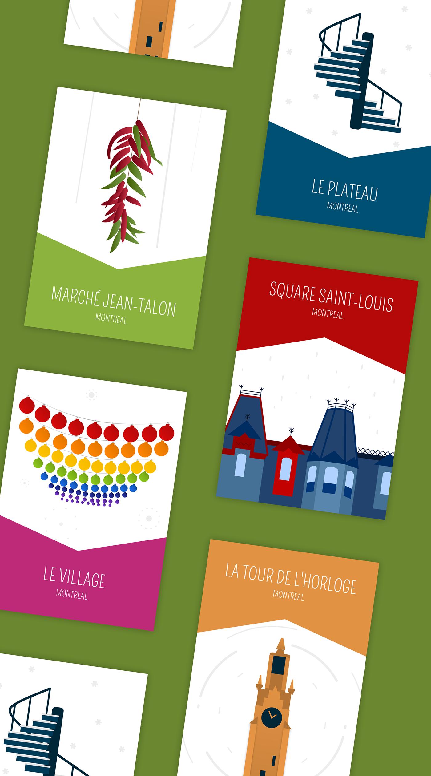 postcard postcards Montreal plateau