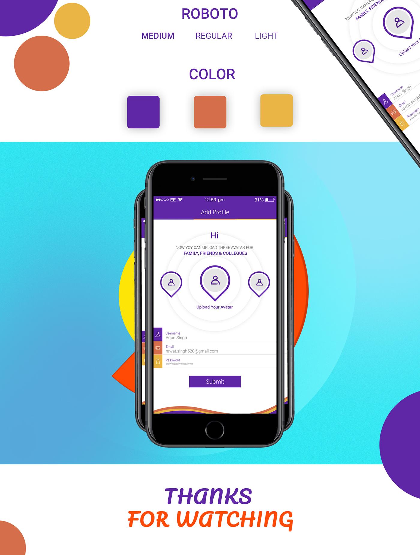 profile screen app design on behance
