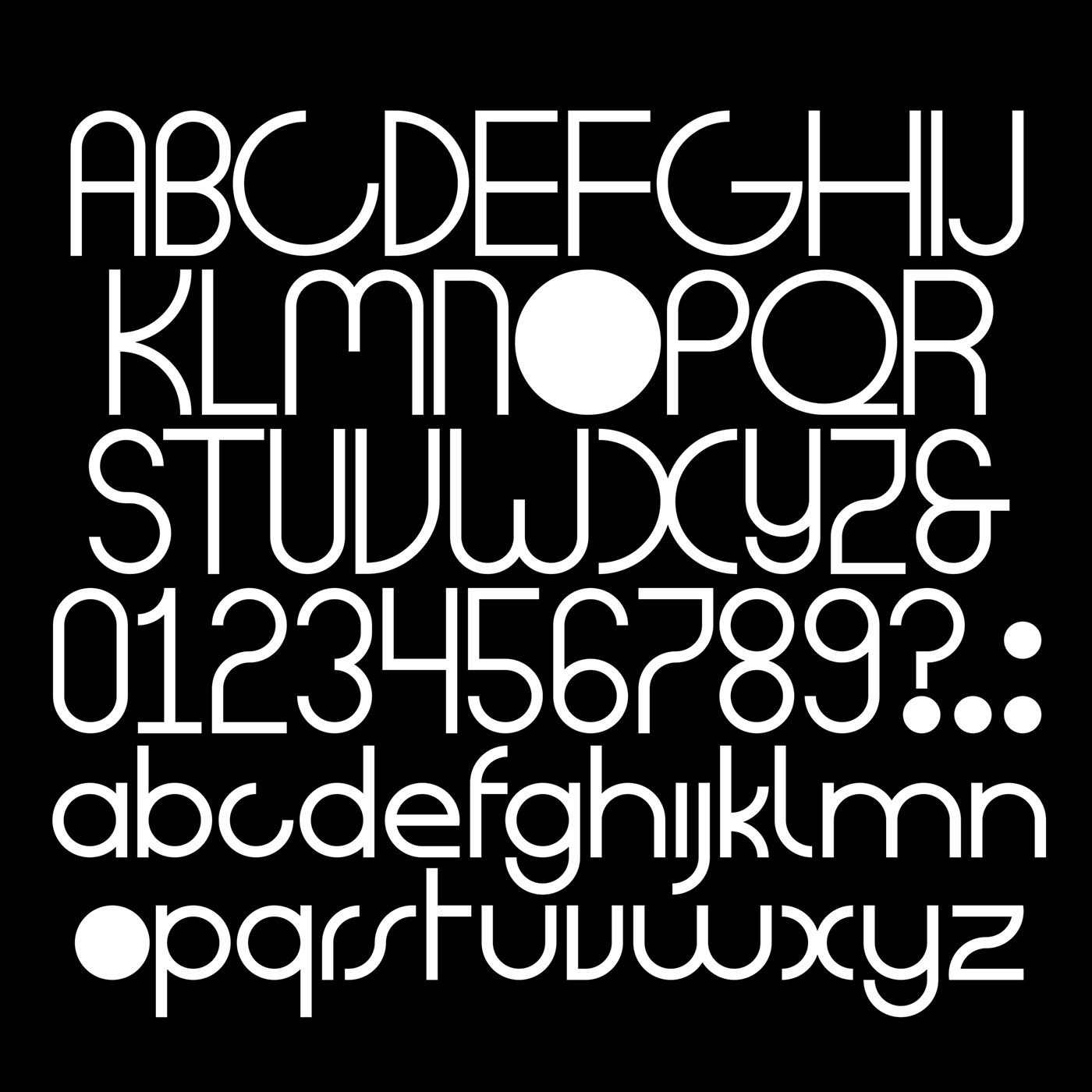 Dot fontface full specimen