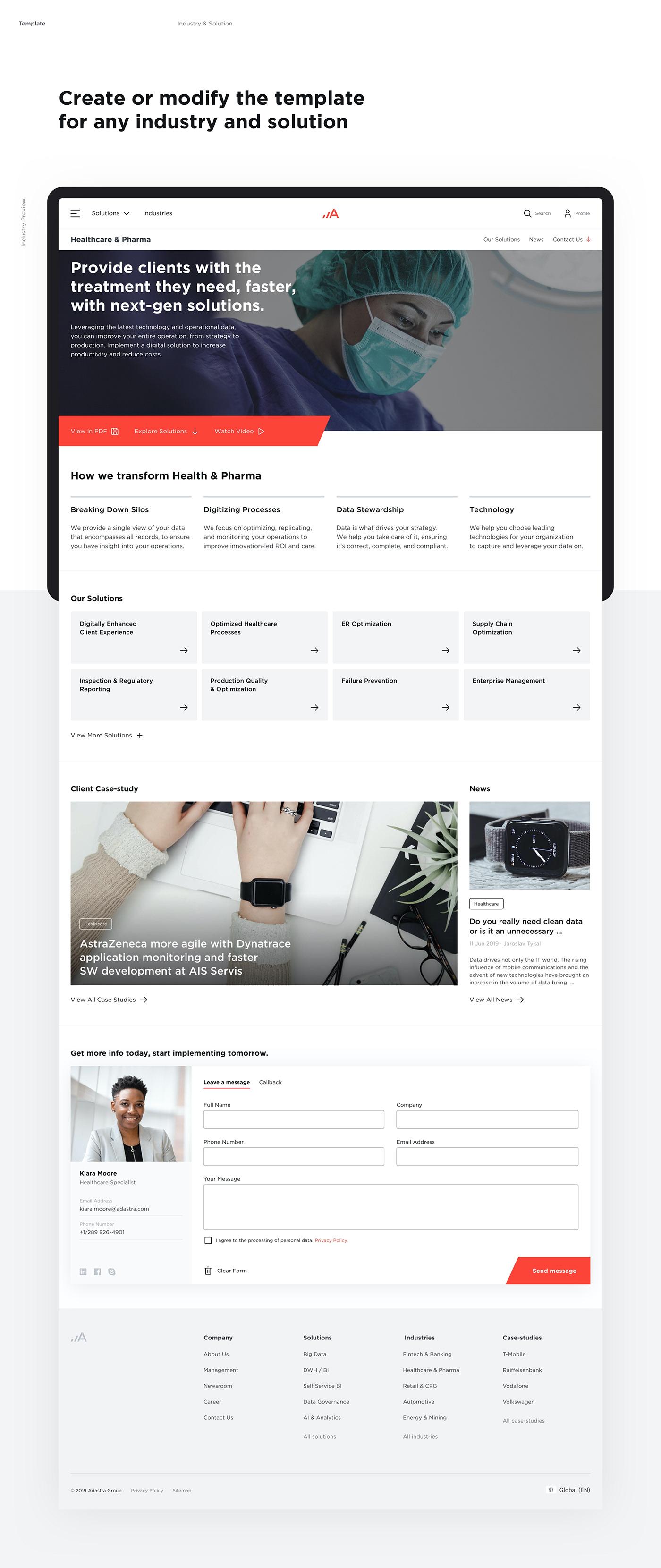 Website Webdesign design system UI ux typography   Responsive interaction adastra Data