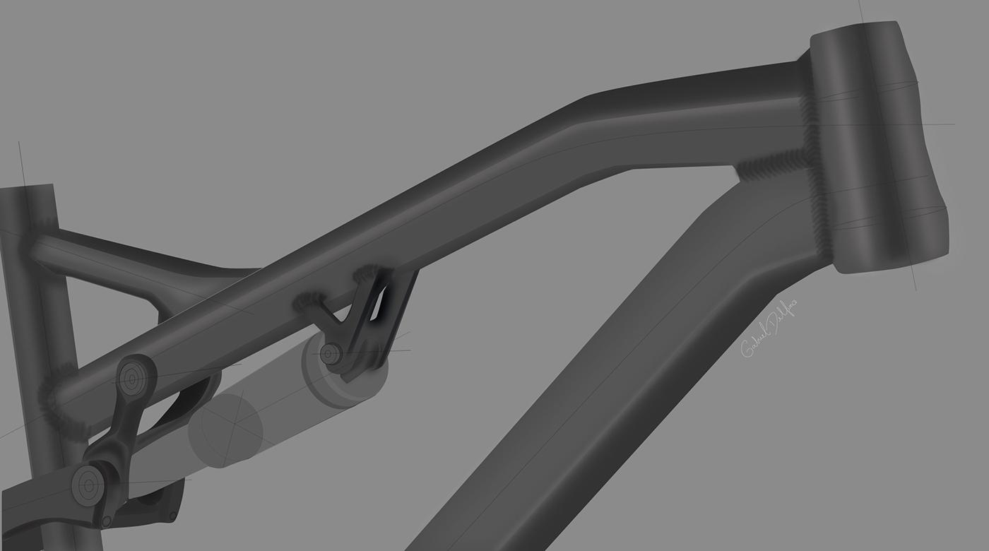 Gabriel Delfino Delfino Delfino Design carbon frame frame bicyle sketching sketch bicicleta Bike