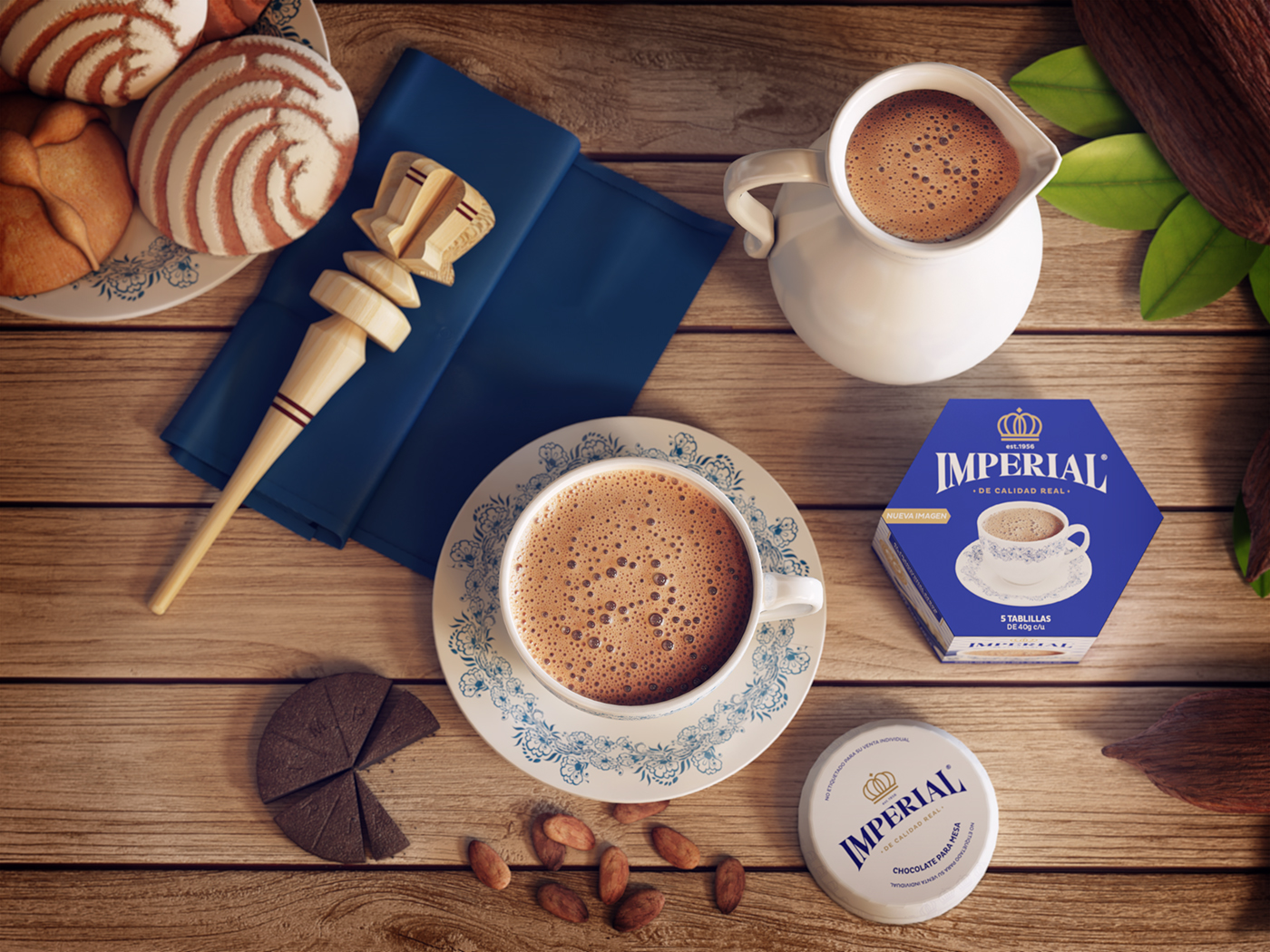 chocolate imperial beverage bebida cacao 3D 3dsmax CG