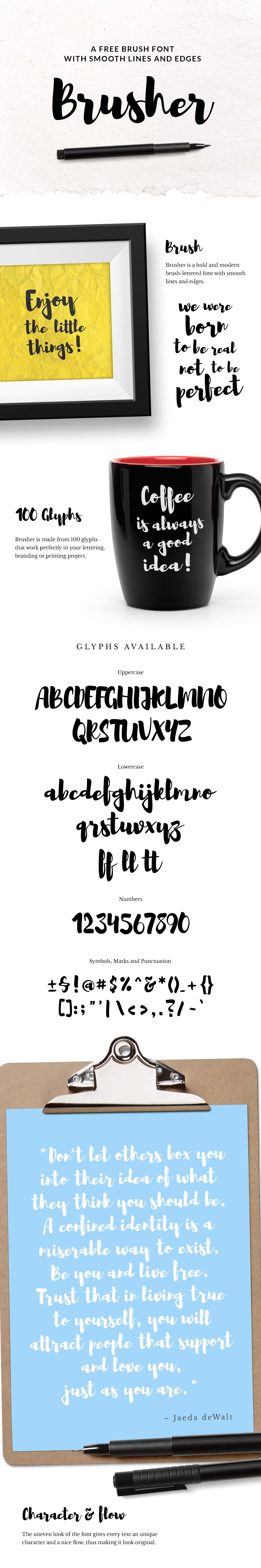 font free type Typeface Free font freebie HAND LETTERING Brush font