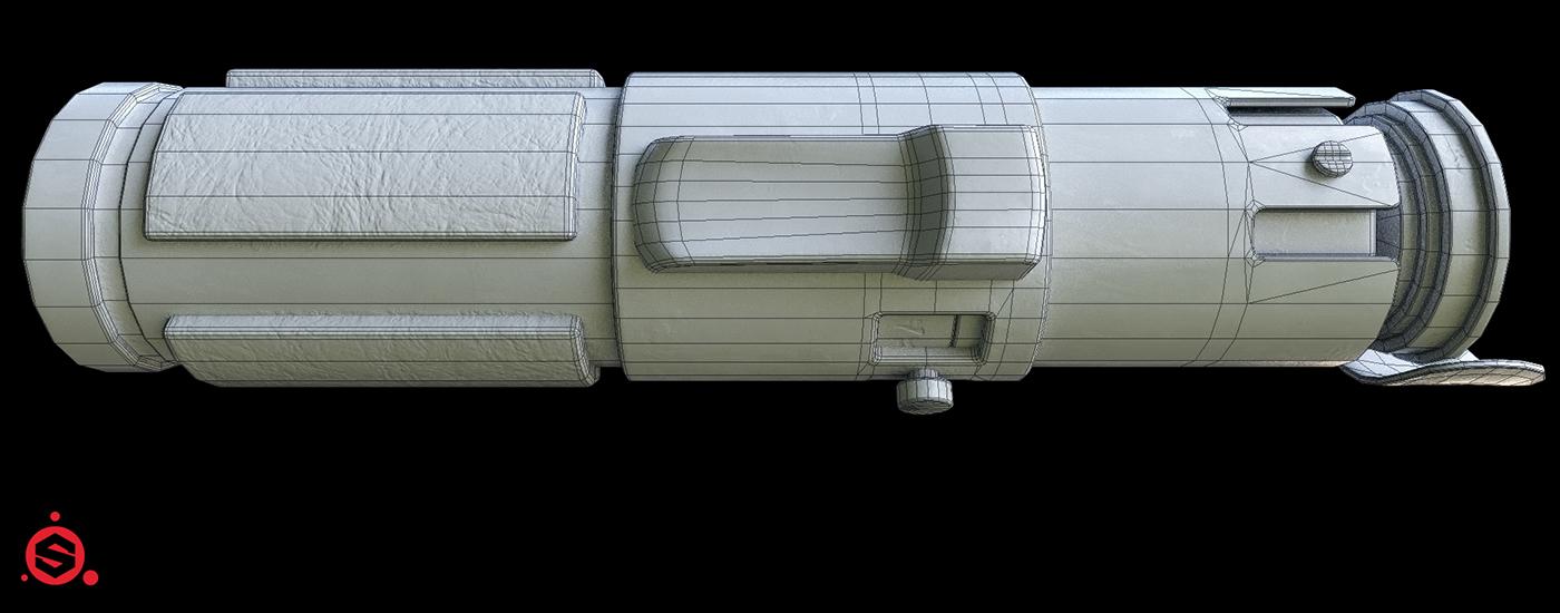 lightsaber yoda Maxwell Render Substance Painter Render Maya 3D star wars game props