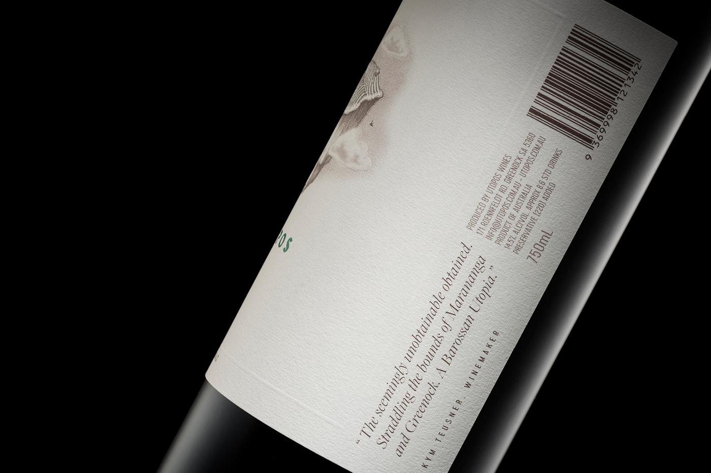 design wine graphic design  Packaging label design wine label branding  logo #Barossa Australia