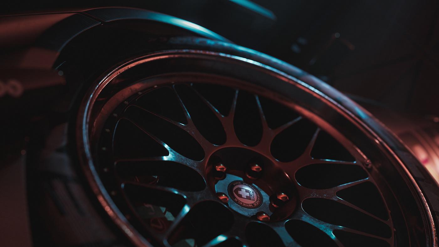 automotive   CGI design drifting Lexus RC-F Render retouching  rtx Unreal Engine visualization