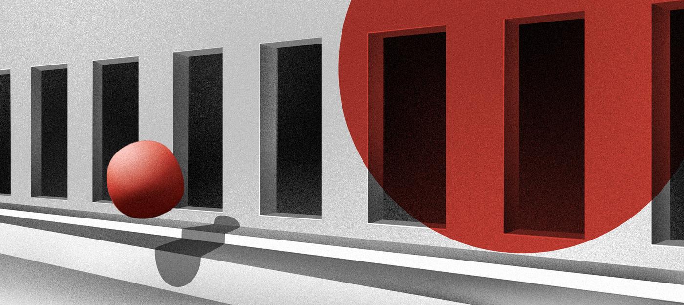 art cosmic digital graphic ILLUSTRATION  minimal mistic portrait red Space