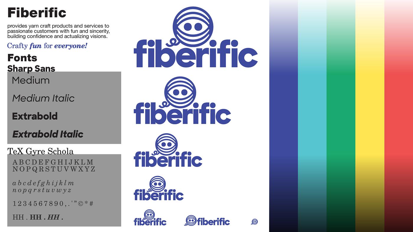 yarn yarncraft craft logo brand identity branding  Identity System Packaging advertisement merchandise