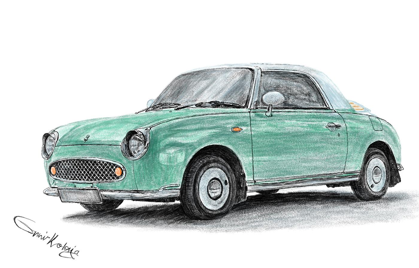 Image may contain: car, green and land vehicle