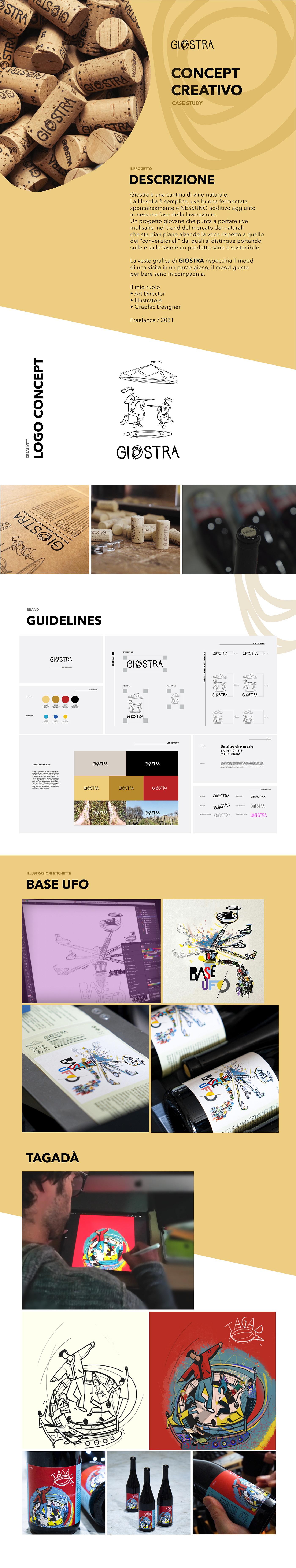 art direction  concept creative concept etichette vino giostra illustrazioni Label label design vini naturali