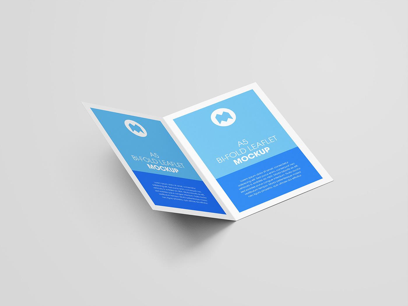 Free A5 Bi Folded Leaflet Mockup CLICK ABOVE LINK TO DOWNLOAD