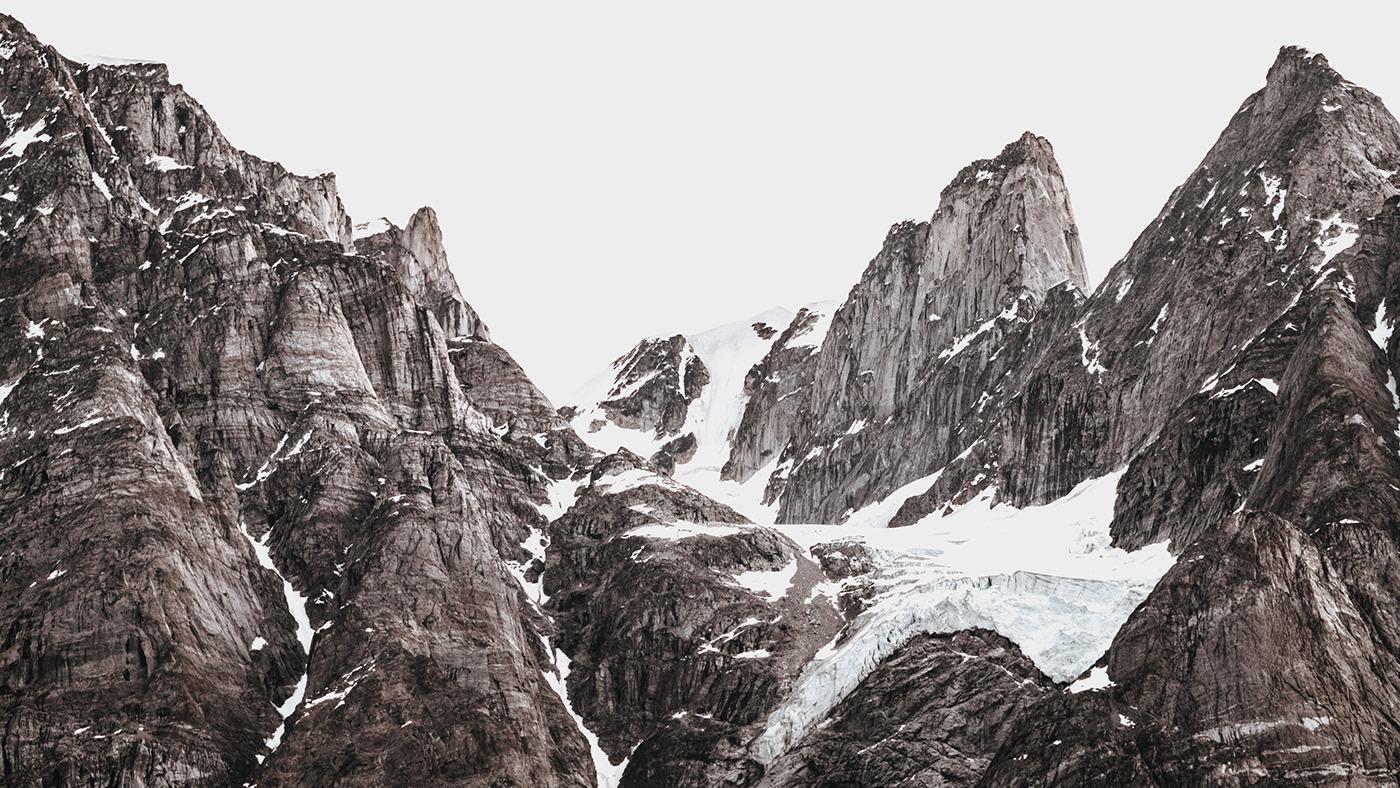 AR climate change Data design glacier retreat branding  custom font identity infographics processing