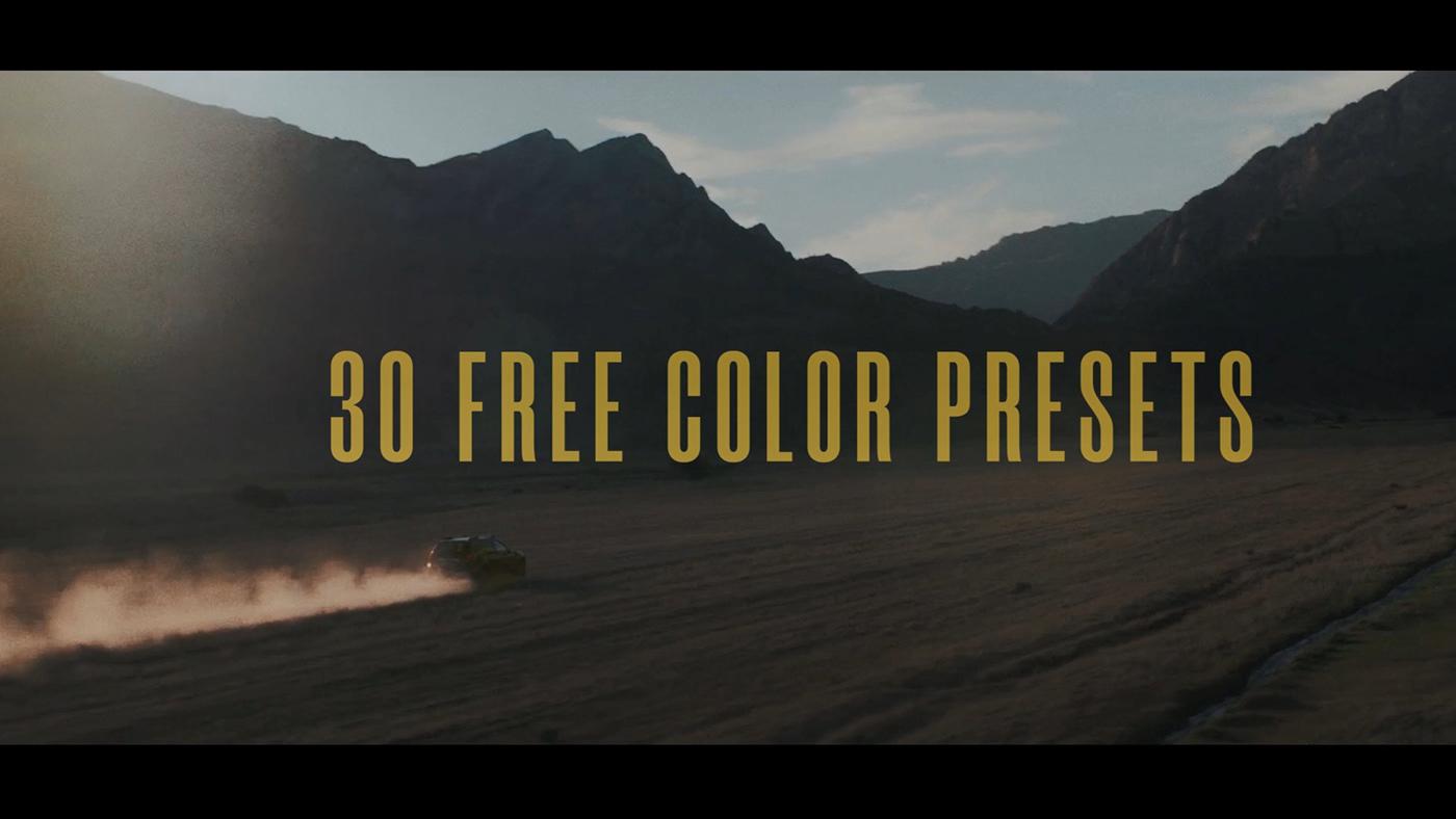 free color presets for premiere pro