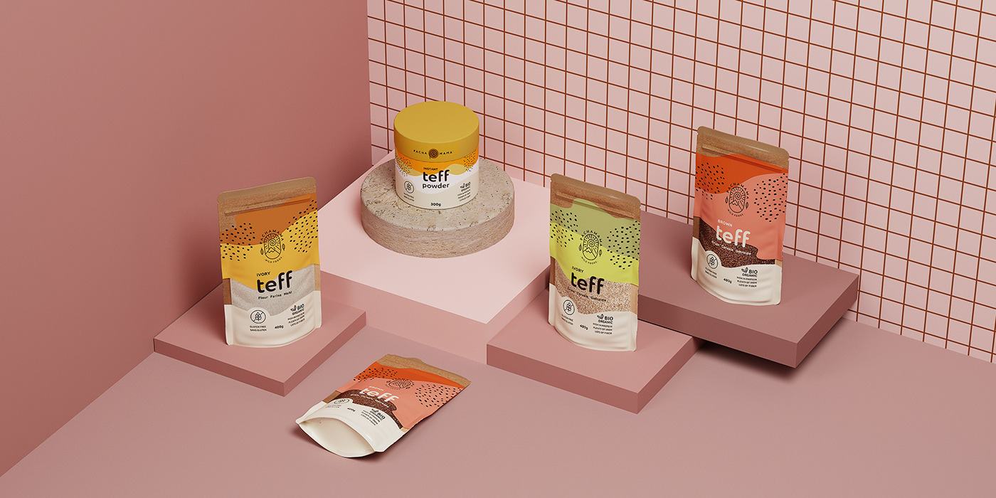 teff organic powder Health superfood Food  tube standup pouch