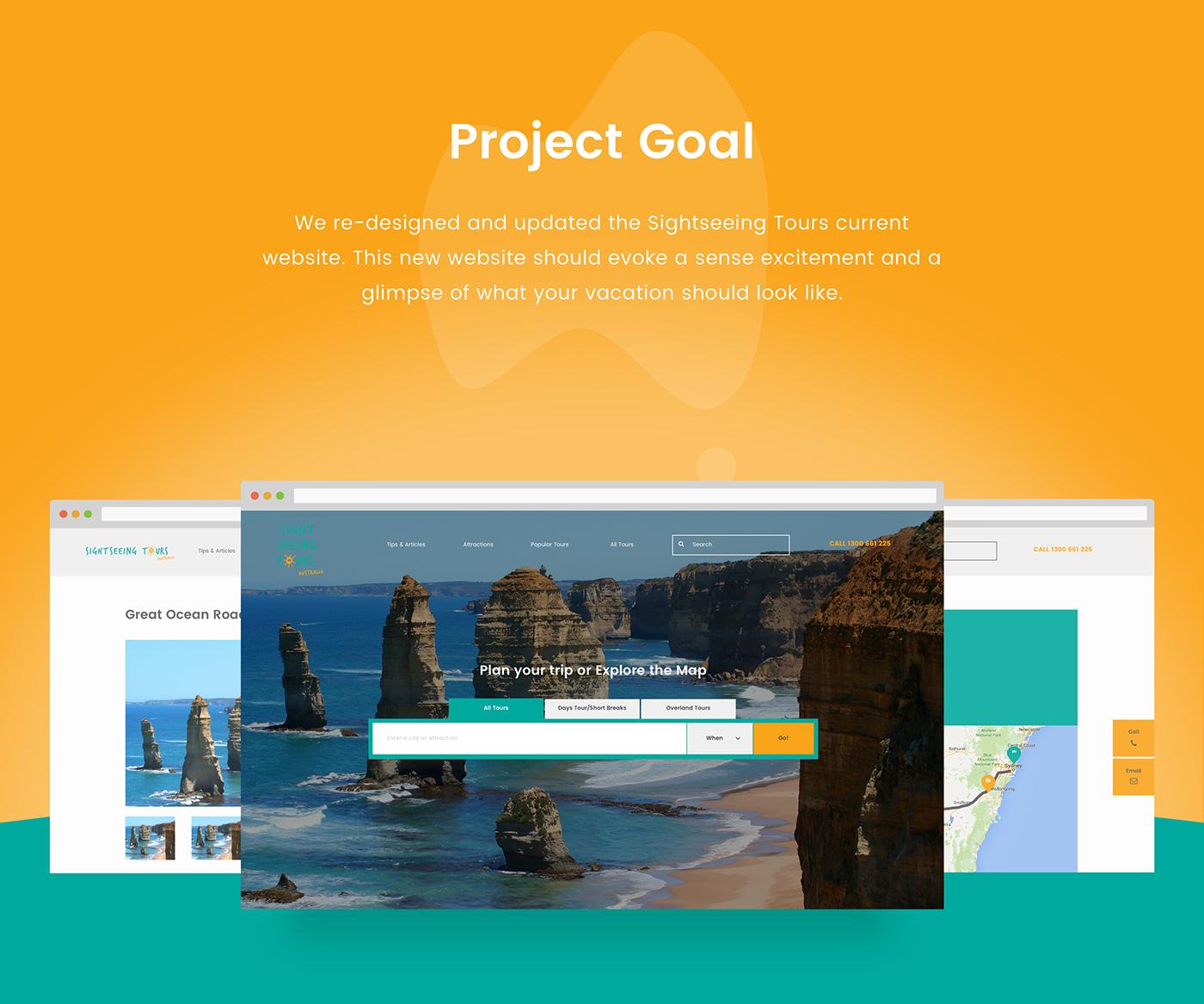 Travel Australia UI Web ux interaction mobile agency branding