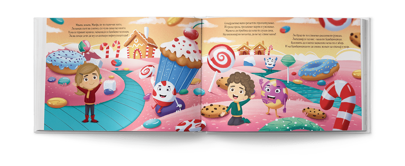 children's book of kinds in a land of candy