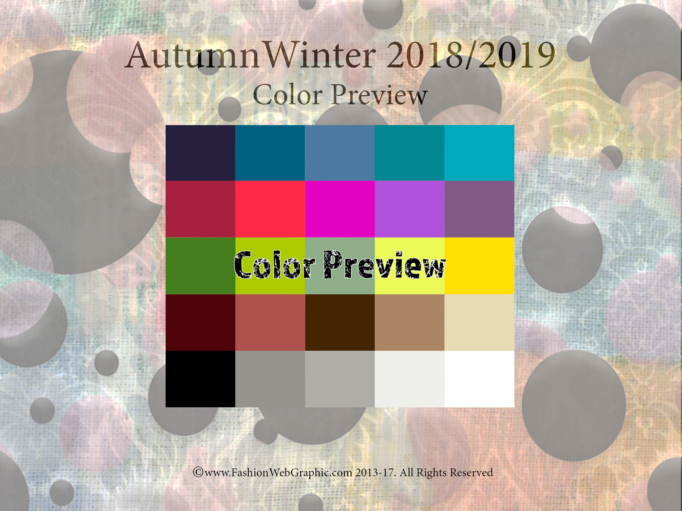 What is the fashion color for 2018 41