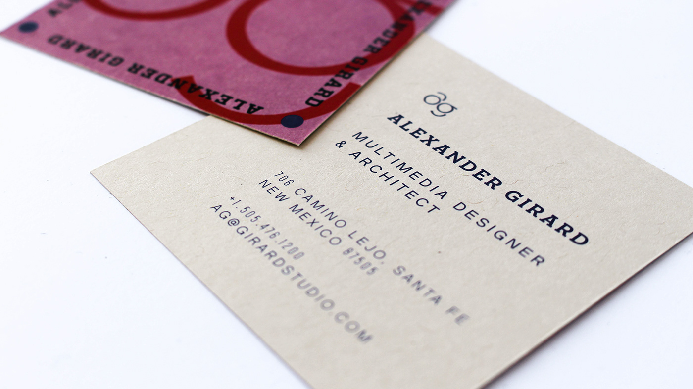 Alexander Girard Monogram Business Card On Behance
