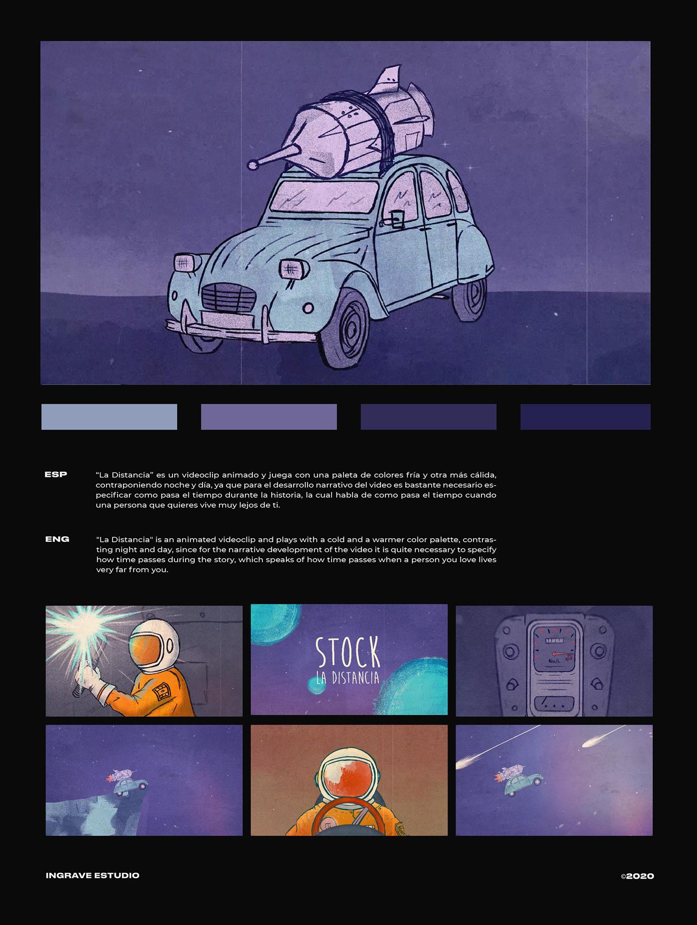 animacion filmmaking Lyric video motion motion graphics  music Videoclip